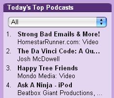 Da Vinci Code podcast listing